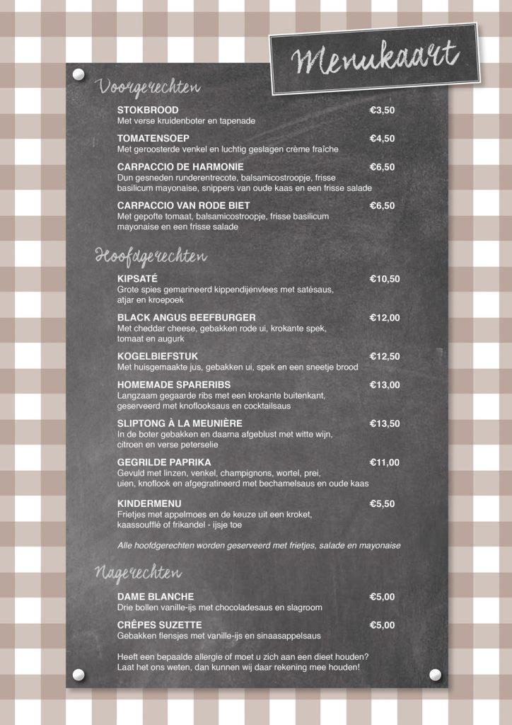 harmonie_menukaart